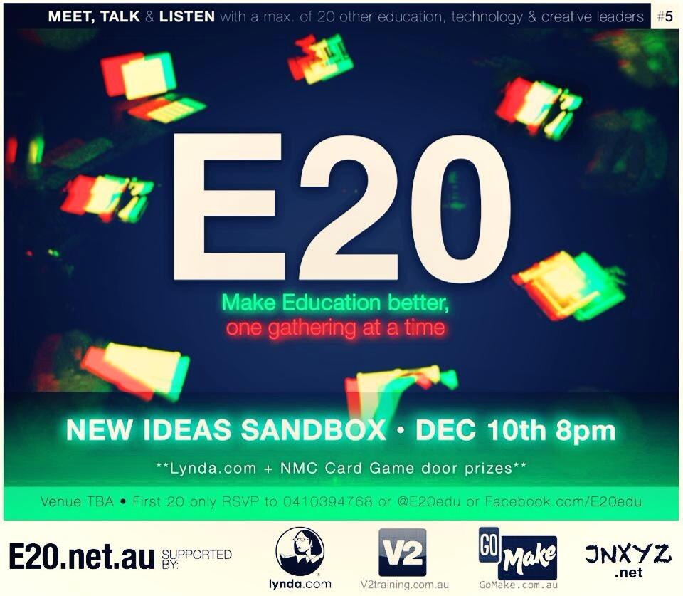 Twitter / E20edu: The next gathering is on! Dec ...