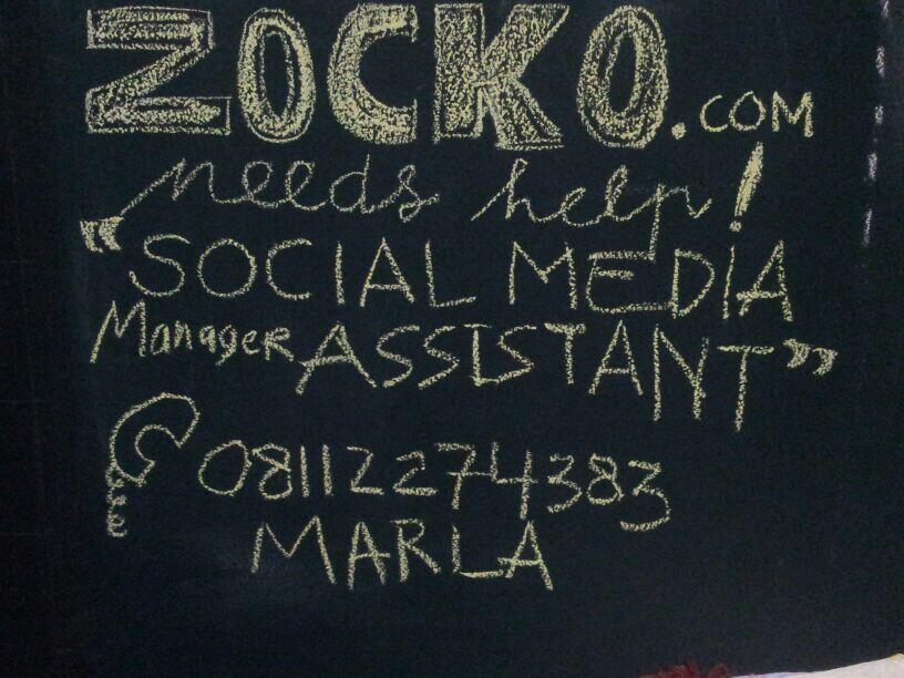 Twitter / miund: #vacancy nih tuips! @wearezocko ...
