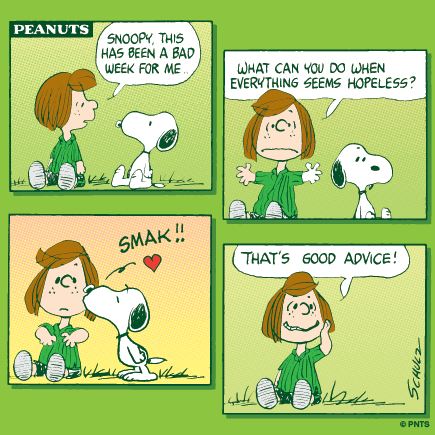"PEANUTS on Twitter: ""Snoopy's advice for a bad week. http ..."