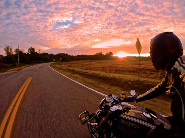 "GoPro on Twitter: ""Photo of the Day! Sunrise motorcycle ..."