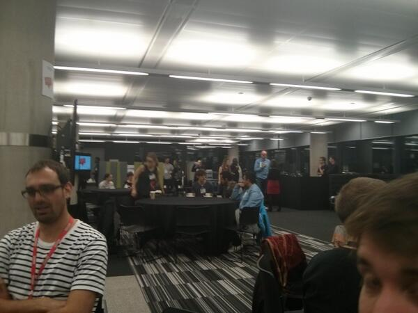 People arriving for #300secs! Was incredibly nervous earlier but now feeling the calm before the storm... http://t.co/DypSusEYpF