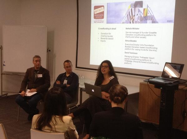 Natalie @givealittle + Simon @BoostedNZ + David @thrillcapital @Thrillpledge talking about their platforms #PacCFS http://t.co/aPmaB67WAj
