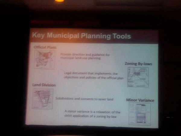.@OntMMAH staff explains the key planning tools in Ontario at #MMAHconsult http://t.co/FyIWBdaP0Y