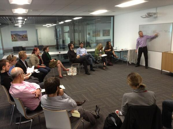 Geraint of @nzrisksociety @navigatus running our #crowdfunding sector risk assessment workshop #PacCFS http://t.co/Cz10jp8V7v