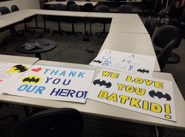 IT'S ALMOST TIME! Don't forget to make a sign and come support #SFBatkid tomorrow at Civic Center at 2pm! http://t.co/qOJL8JIOl4