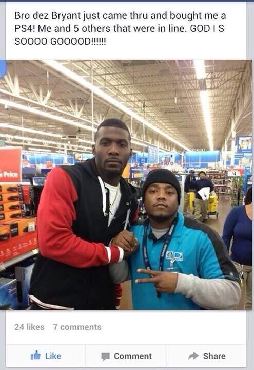 Dez Bryant Buys PlayStation 4 For Strangers Standing In Line At Walmart (PHOTO, TWEETS)