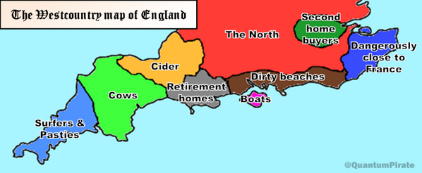 Does this look about right, @the3rdgirl? RT @QuantumPirate: The Westcountry map of England. http://t.co/1gp8Z4Uxs5""