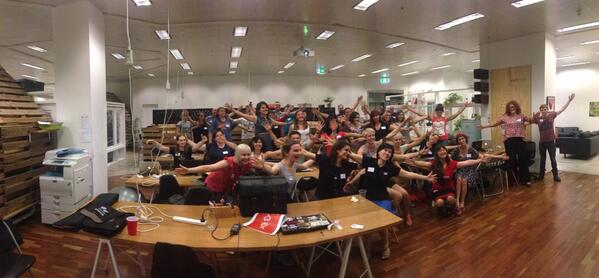 Oh look! It's a #railsgirlsperth #fridayhug /cc @tenderlove @railsgirlsau  @rubyaustralia http://t.co/Q1aZCgKcZx
