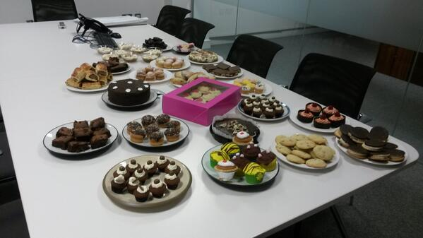 Lots of delicious cakes for the bake sale in our Cork office today in aid of @marymountcork! #onepercentdifference http://t.co/M7wFGfp7eX