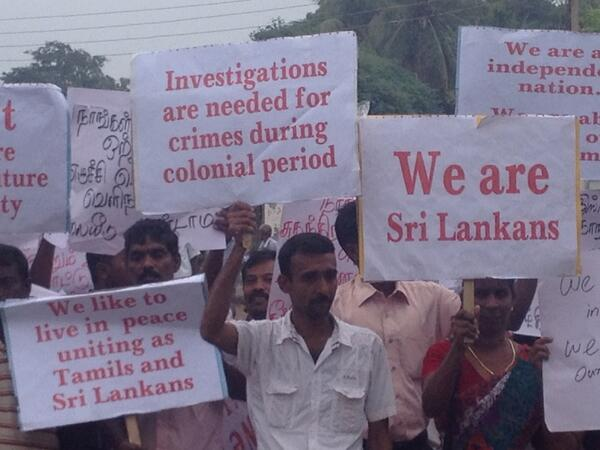 Tamils mob David Cameron in Sri Lanka.