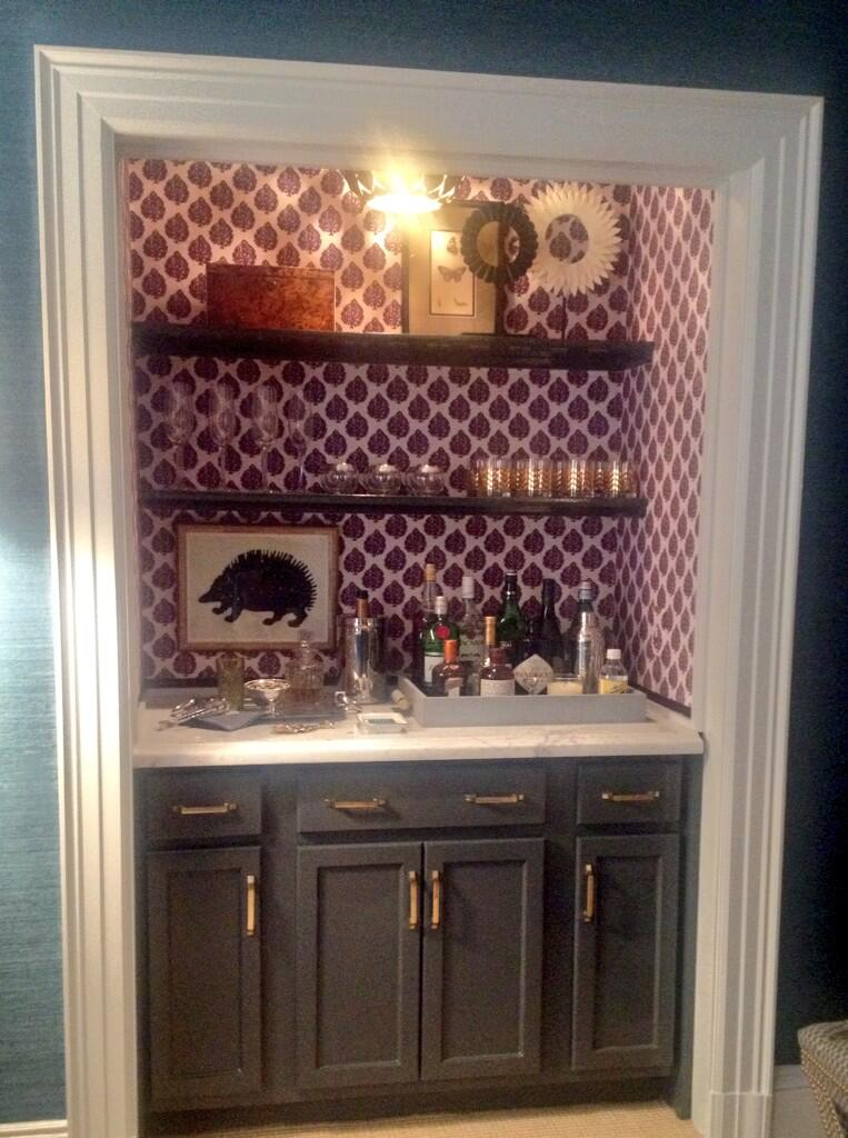 Pamela jaccarino on twitter turn the closet into a bar for Closet dry bar ideas