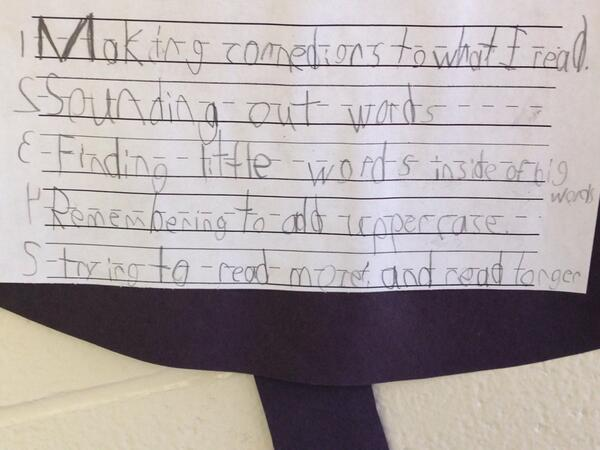 Grade 1/2 goals for reading and writing. #tvadmin #greatstrat http://t.co/nXR5aSQmza