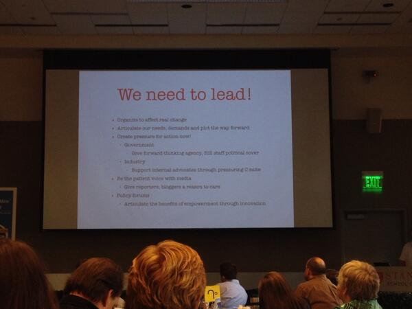 """We need to lead!"" ~ @annamcslipp #dbminesummit http://t.co/lAjIrHeroM"