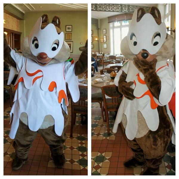 disneycharacterguide on twitter we are catching up on halloween pics from paris ghost chip dale at disneylandparis were so cute