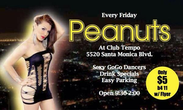 Peanuts On Twitter Good Times 2nite Hot Gogos And Drink Specials Only At Peanuts 5520 Santa Monica Bl Hollywood Tgirls T Co Gytisn2txx