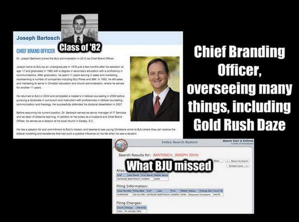 Joseph Bartosch '82 and until 3/2013 BJU's Chief Branding Officer http://t.co/GyK4Yj007q #ProofIsIntheProduct http://t.co/bIW6lqbC8x
