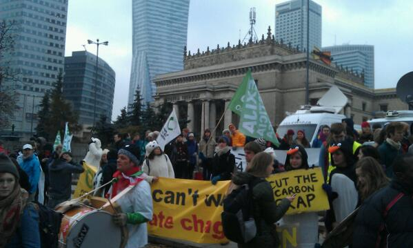 Nearly time to start marching #COP19 http://t.co/QR62n2USAL