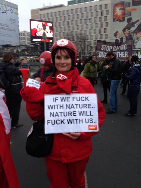 """If we fuck with nature, nature will fuck with us."" Indeed. #cop19 http://t.co/Rw9aocJ31g"