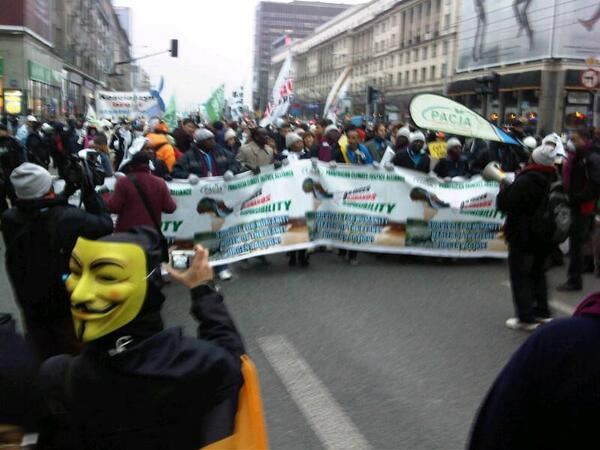 March for climate justice in Warsaw just started at #cop19 ^sm http://t.co/rAw7BS3F7f