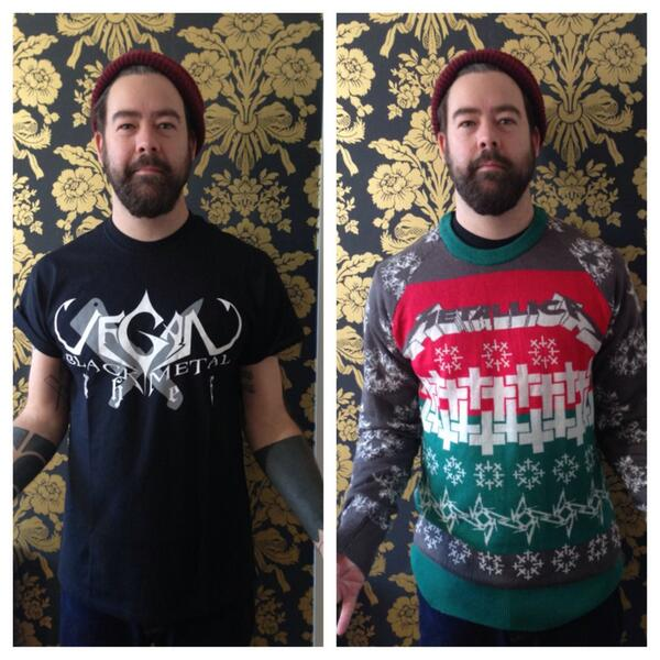metallica on twitter danielpcarter you rock the ugly christmas sweater well thesweaterthatshouldnotbe - Metallica Christmas Sweater