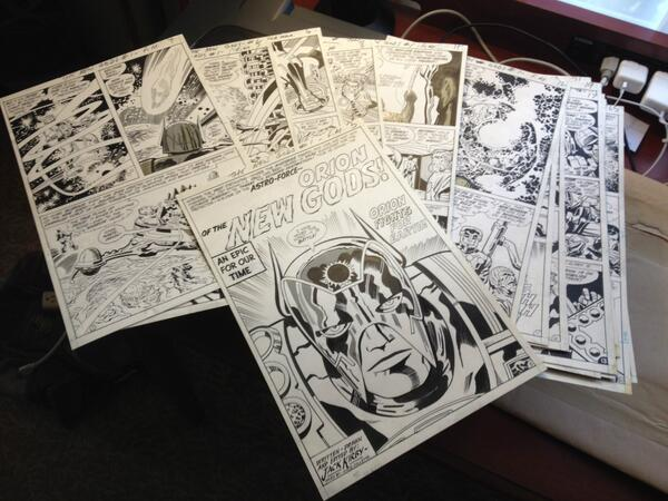 Just scanned Jack Kirby's original art for New Gods #1 for the upcoming New Gods Artist's Edition. It's incredible! http://t.co/M82mBdcpL0