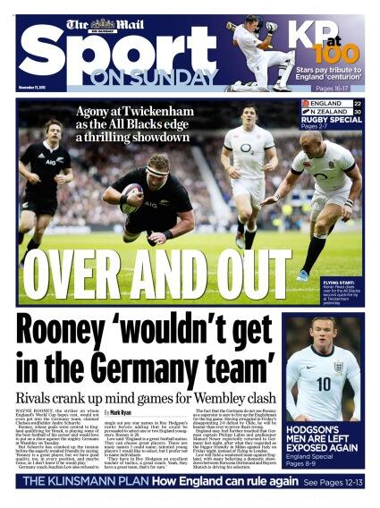 Chelseas Schürrle winds up Man Uniteds Rooney saying he wouldnt get in the German team [Mail on Sunday]