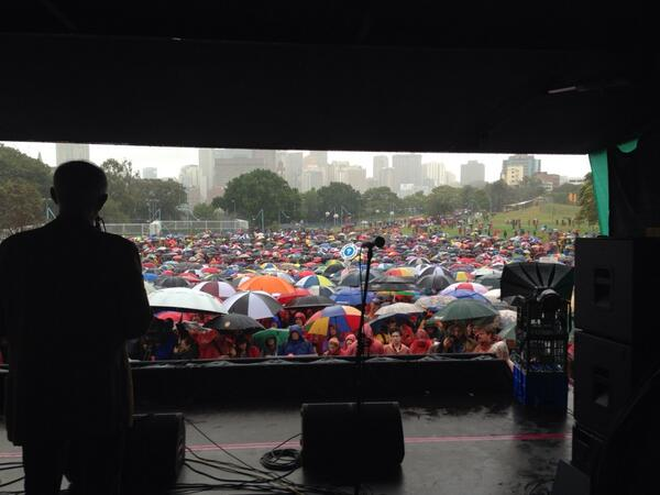 Thanks to all the hearty souls braving the rain to take #climateaction  #auspol http://t.co/QUkR7L9BJh