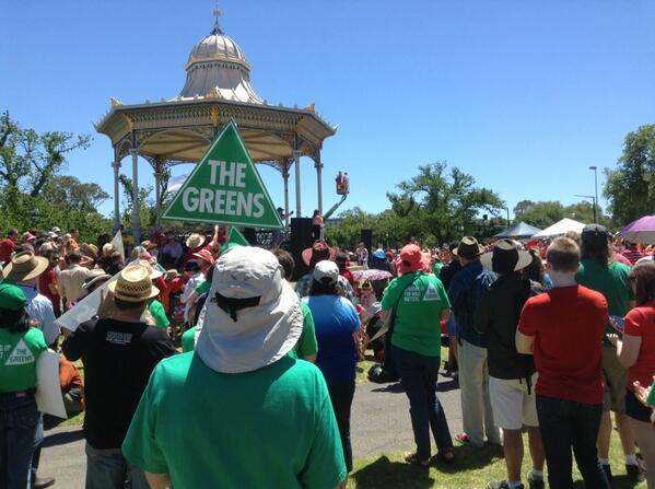 At the climate change rally in Elder Park, Adelaide http://t.co/ZENiyNyiXW