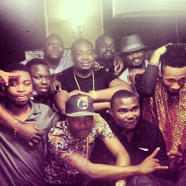 Every one Crashing on Don Jazzy Mavin Records studio.