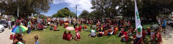 Climate change Time to Act Block buster 5000 crowd  #ClimateAction #Perth   @GetUp @AYCC @AusConservation http://t.co/V9mdrhL1Y1