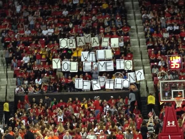 Very clever invitation to @barackobama and @flotus for #Terpthon. #Terps #Beavers http://t.co/1Uav8w55tB
