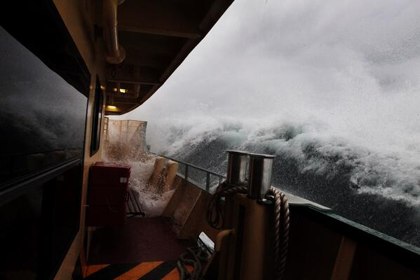 I feel queasy just looking at this MT @smh: Manly Ferry in the swell this morning, captured by @nampix. http://t.co/SoTD1pqnO3""