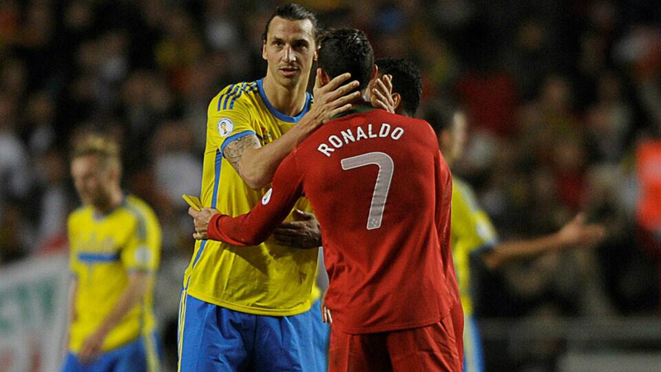 Zlatan & Ronaldo Cam: Excellent video shows how Ibrahimovic & Cristiano reacted to each others goals during Sweden 2   Portugal 3