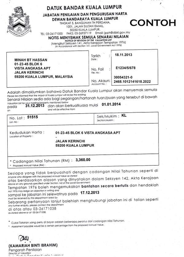 nurul izzah on twitter quot contoh maklumat untuk melengkapkan surat bantahan cukai taksiran
