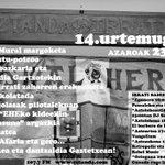 Image for the Tweet beginning: AZAROAK 23, LARUNBATA, EZTANDA IRRATIAREN
