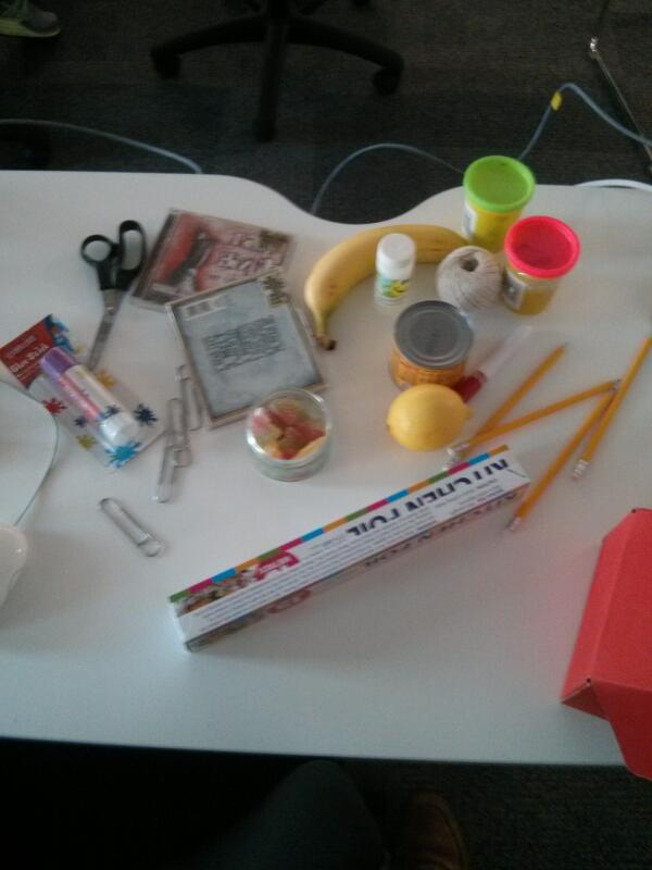 Tools at the ready for the #makeymakey #gallerycamp13 event. What can you come up with? #letsmakestuff http://t.co/k73JCJai9v