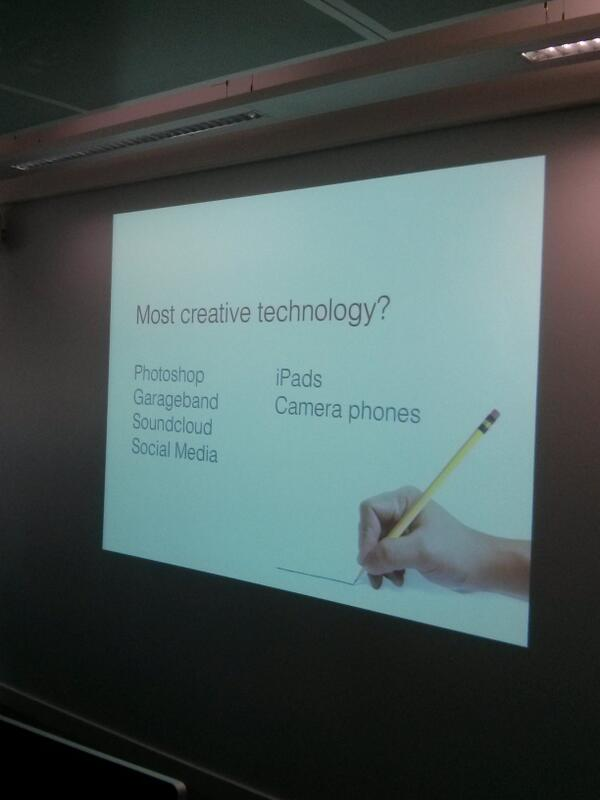 What do you think is the most creative technology available today? #gallerycamp13 #creative #technology http://t.co/8RUdhfGXdr