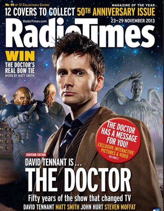 David Tennant on cover of Radio Times