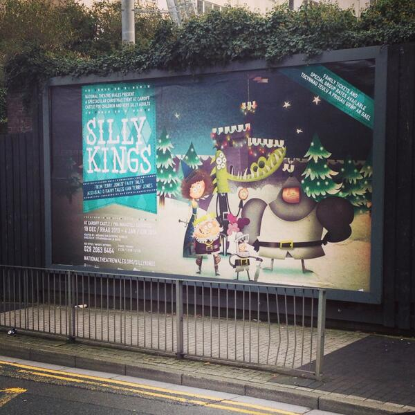 so cool to see this up & looking so nice! @elfen_branding #sillykings http://t.co/oXY8nFwpDs