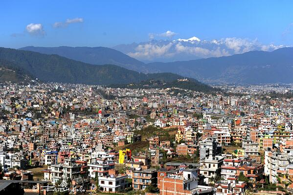 Expecting brighter days ahead: It was a clear polling day in Kathmandu (picture: Rajesh KC @phalano