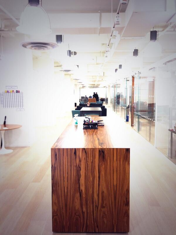 The innovation of work! Swung by to see a few clients and their build out. http://t.co/LMj43pM8YK