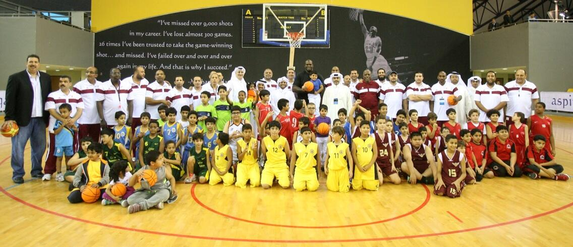 O'Neal participates in basketball training session with Qatari players