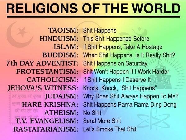 Robert Greiner On Twitter Religions Of The World Humor Httpt - Top religions in the world