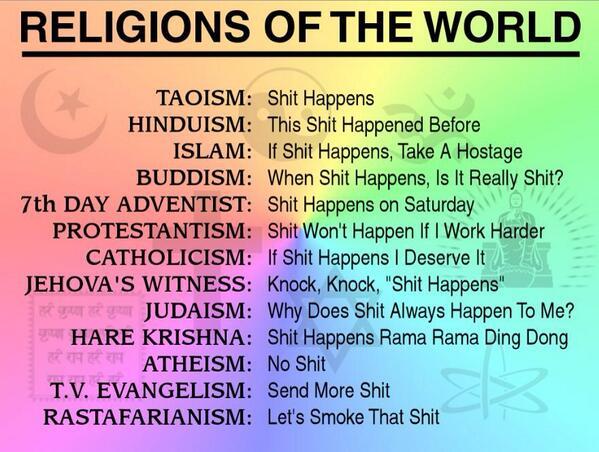 Robert Greiner On Twitter Religions Of The World Humor Httpt - Top religions in the world