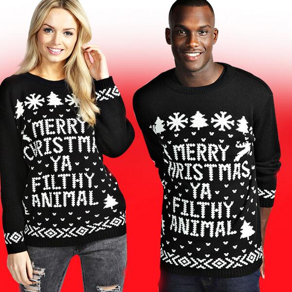 """b69cb82deeaee """"@boohoo: HIS 'n HERS Crimbo Jumpers http://bit.ly/IeILpy #Xmas  pic.twitter.com/pAjXd7zHnI"""" @waddingham140 should we get some?"""