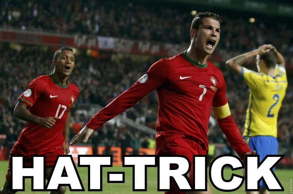 06e8880e10e Everyone goes Cristiano Ronaldo mental after sensational hat-trick for  Portugal in Sweden  Best Tweets