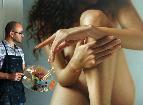 Les peintures hyper-réalistes de Omar Ortiz ! BZdxRa1CcAAkUCn