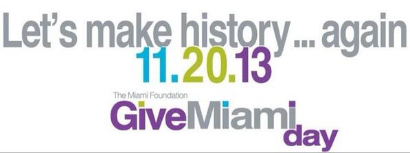 History in the making ... #givemiamiday http://t.co/YlY2nULSdk