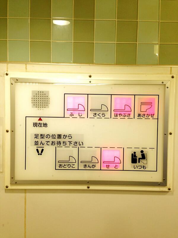 横浜駅のトイレ、便器毎に名前つけられてるんだけどwww