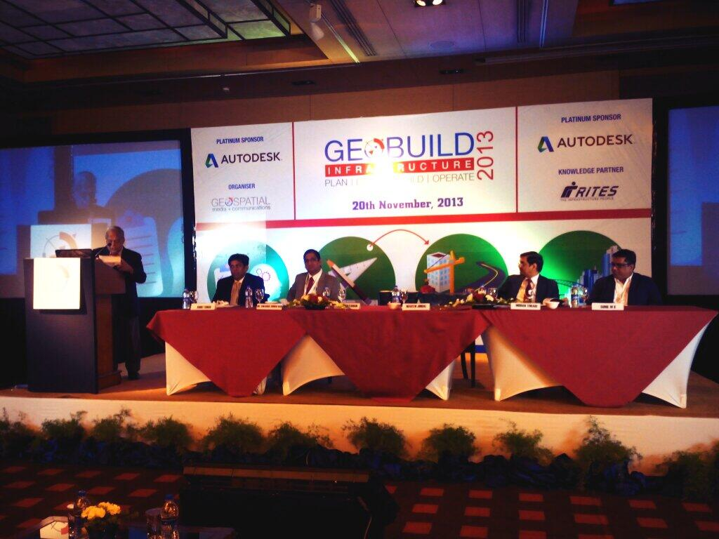 Inaugural session of #GeoBuildInfra begins! Opening remarks by Dr M P Narayanan, Chairman, Geospatial Media